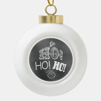 Chic Festive Chalkboard Ho, Ho, Ho Santa Ornament
