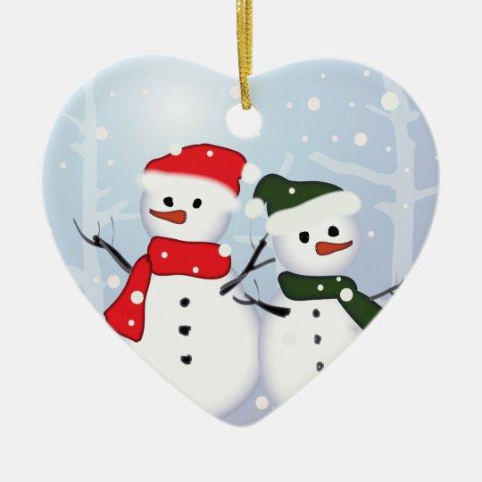 chic festive xmas evergreen Christmas Tree Ceramic Ornament