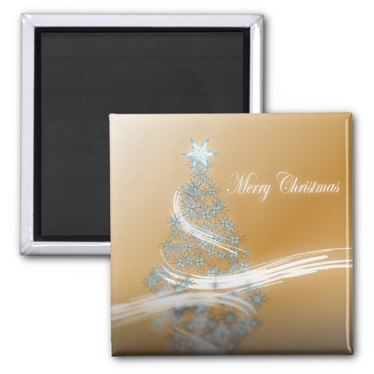chic festive xmas evergreen Christmas Tree Magnet