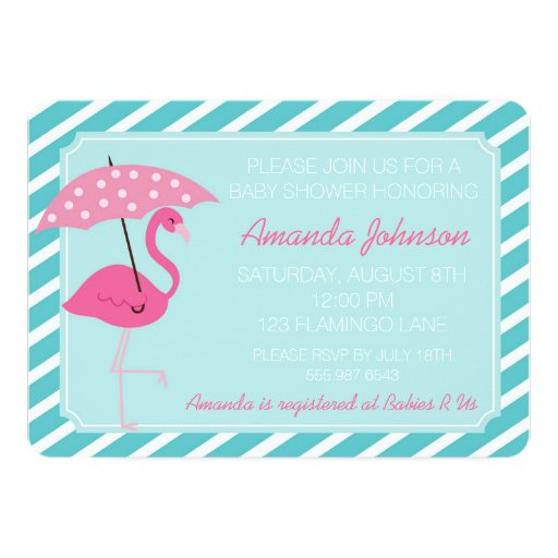 chic flamingo baby shower invitation zazzle