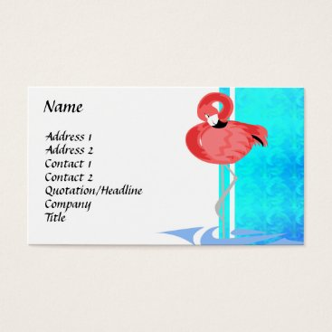 Professional Business Chic Flamingo Business Card