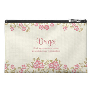 Chic Floral Border Cosmetic Bag