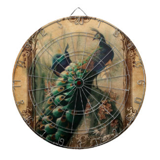 chic floral french country modern vintage peacock dart board