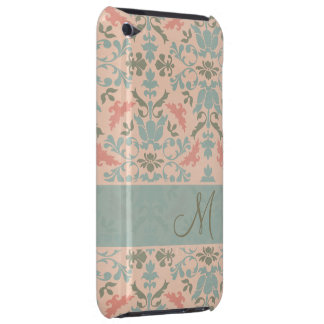 Chic Floral Monogram Damask Barely There iPod Cases
