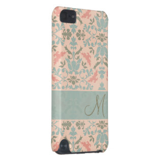 Chic Floral Monogram Damask iPod Touch (5th Generation) Covers