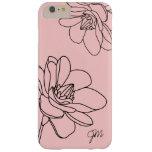 Chic Floral Monogram iPhone 6 Plus Case - Pink