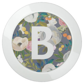 Chic Floral Monogram USB Charging Station