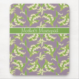Chic Floral Mousepad: Lilies of the Valley, Mauve