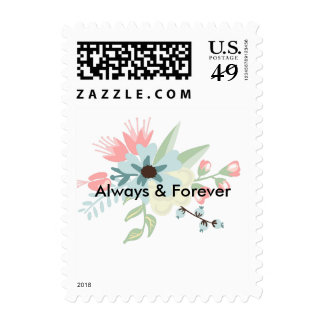 Chic Floral Postage Stamps