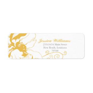 Chic Floral Return Address Labels