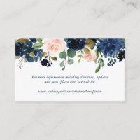 Chic Floral | Romantic Navy Blush Garland Enclosure Card