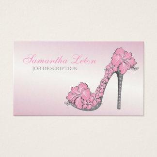 Chic Floral Stilettos Shoes High Heels Pumps Business Card