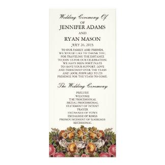 Chic Floral | Wedding Program Rack Card Design