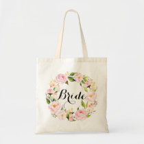 Chic Floral Wreath Bride-6 Tote Bag