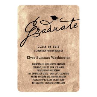 Chic Foil Stylish Graduate Graduation Party Invite