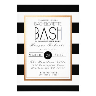 Chic & Formal Bachelorette Bash | Gold & Black Card