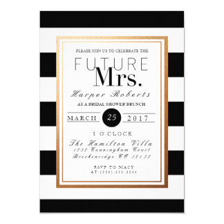 Chic & Formal Bridal Shower | Gold & Black Card