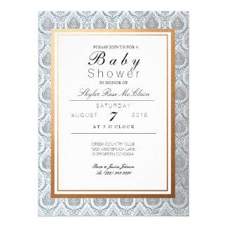 Chic French Art Deco Baby Shower Invite