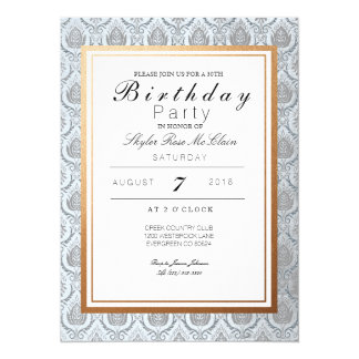 Chic French Art Deco Birthday Party Invite