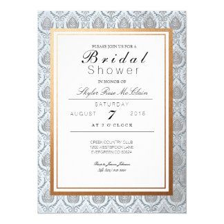 Chic French Art Deco Bridal Shower Card