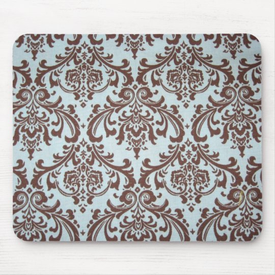 Chic French Blue Fabric Mouse Pad