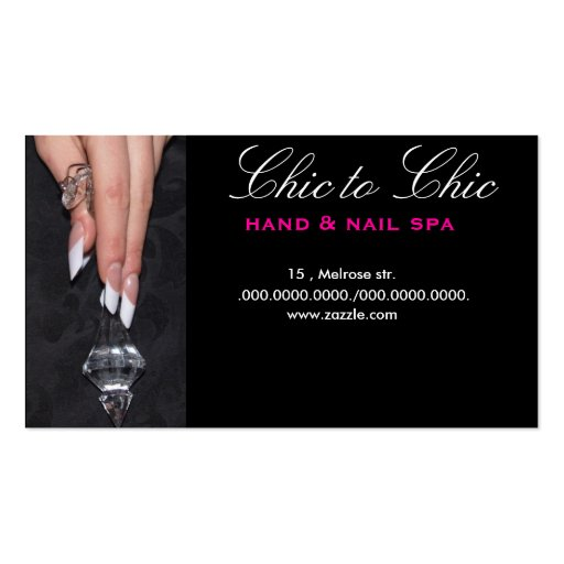 chic french Double-Sided standard business cards (Pack of 100)