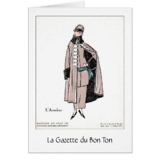 Chic French Fashion, Greeting Card