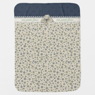 Chic French Inspired Floral Baby Blanket