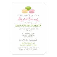 Chic French Macaron Bridal Shower 5x7 Paper Invitation Card