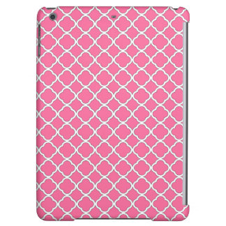 Chic French Pink Quatrefoil Maroccan Pattern iPad Air Covers