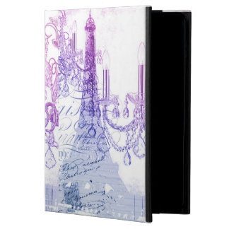chic french purple chandelier paris eiffel tower case for iPad air