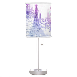 chic french purple chandelier paris eiffel tower desk lamp