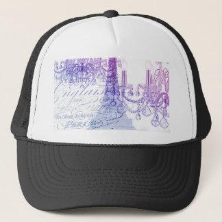 chic french purple chandelier paris eiffel tower trucker hat