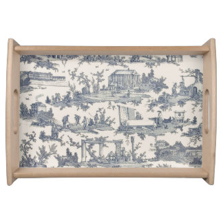 Chic French Toile Serving Tray