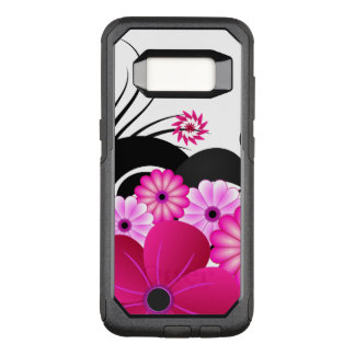 Chic Fuchsia Magenta Pink Floral Hibiscus Flowers OtterBox Commuter Samsung Galaxy S8 Case