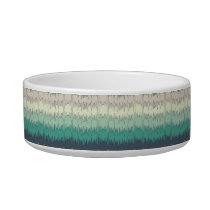 Chic Funky Chevron Zigzag Colorful Vibrant Pattern Bowl