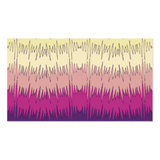 Chic Funky Chevron Zigzag Colorful Vibrant Pattern Business Card