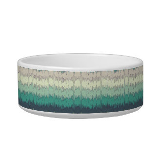 Chic Funky Chevron Zigzag Colorful Vibrant Pattern Cat Food Bowl