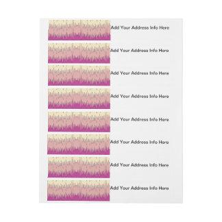 Chic Funky Chevron Zigzag Colorful Vibrant Pattern Wrap Around Address Label