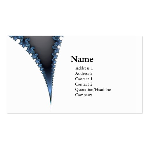 chic geek fractal business card