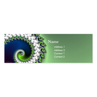 chic geek fractal curly profile card Double-Sided mini business cards (Pack of 20)