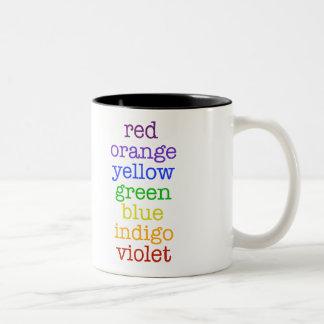 chic geek rainbow coffee mug