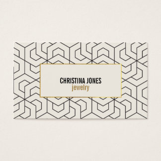 ★ Chic Geometric business card template ★