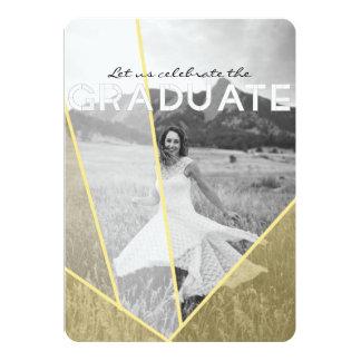 Chic Geometric Overlay | Graduation Party Photo Card