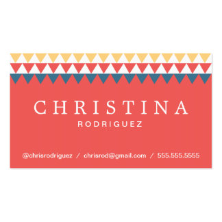 Chic Geometric Triangles Businesscard Design Double-Sided Standard Business Cards (Pack Of 100)