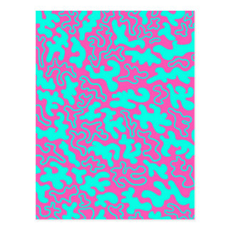 """""""Chic Germs - Pink & Teal"""" Postcard"""