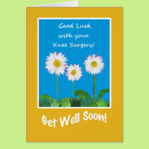 Chic Get Well Card, Knee Surgery, Daisies Card