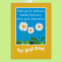 Chic Get Well Card, Operation or Surgery, Daisies Card