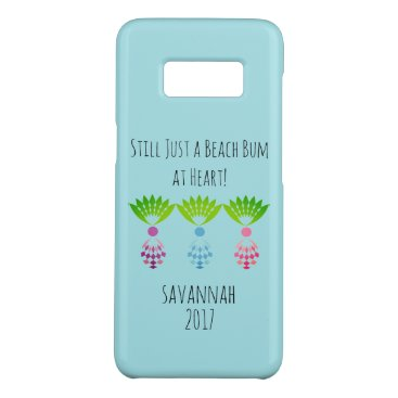 "Beach Themed CHIC GIRLY  ""BEACH BUM"" TROPICAL MOD PINEAPPLES Case-Mate SAMSUNG GALAXY S8 CASE"