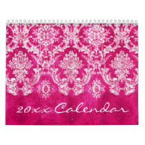 Chic Girly Patterns with damasks and chevrons plus Calendar